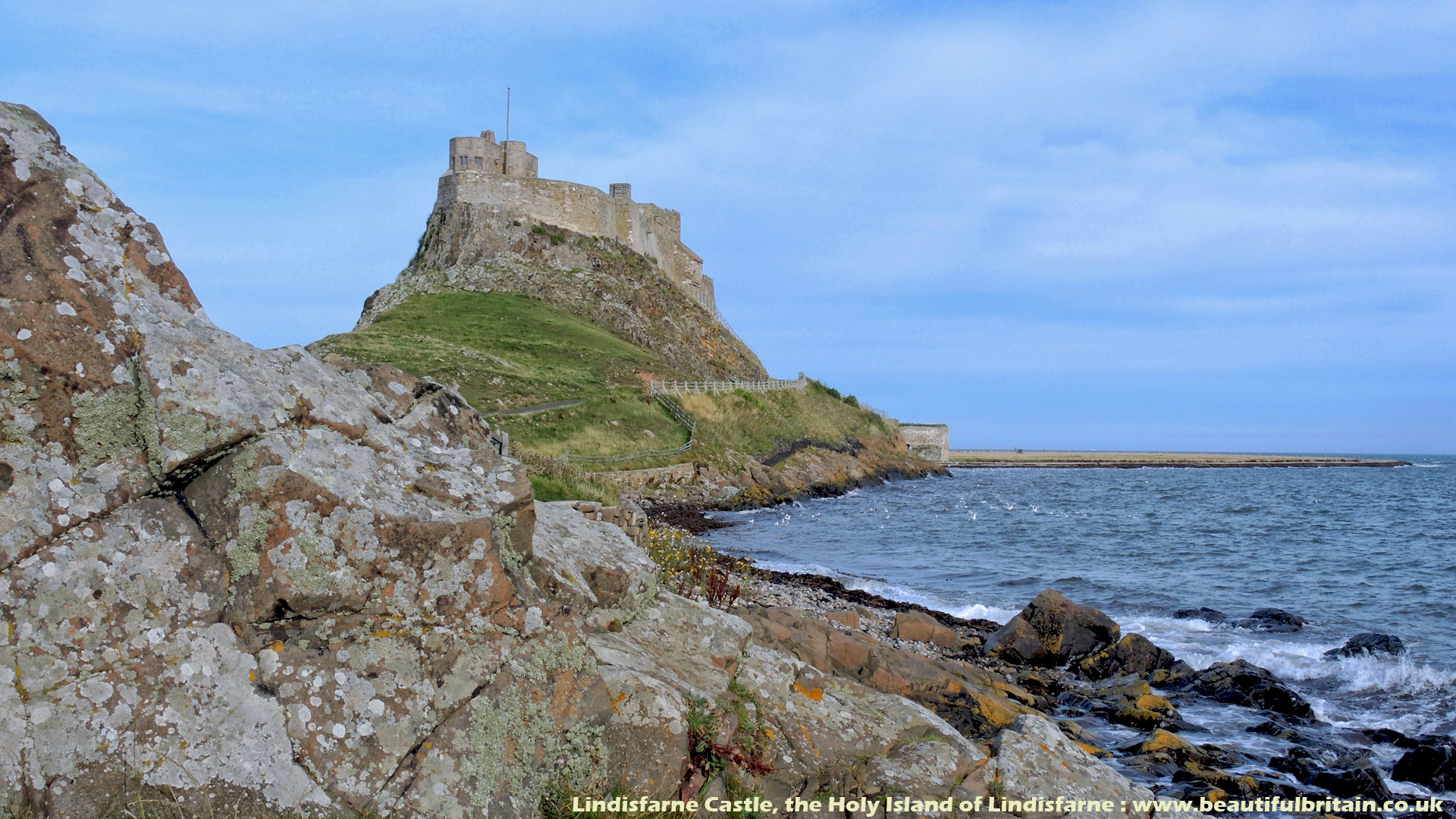 lindisfarne castle holy island northumberland britain pinterest castles