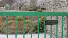 The entrance to the memorial garden in the village of Aberfan