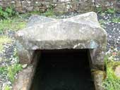 Mompesson's well. Money was purified here during the time of the plague.