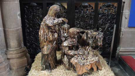 Christmas Nativity scene - Chester Cathedral