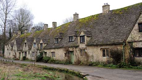 Arlington Row, Bibury : Gloucestershire (OS Grid Ref. SP114066 Nearest Post Code GL7 5NJ)