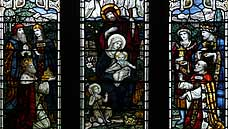 The Nativity Window - Brecon Cathedral : Powys (OS Grid Ref. SO044290)