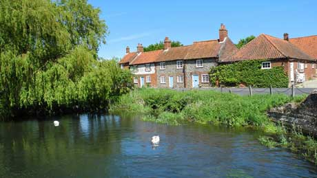 The River Burn at Burnham Overy Mill, Norfolk (OS Grid Ref. TF835435 Nearest Post Code PE31 8JA)