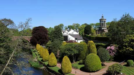The Burns Monument, photographed from the Brig o' Doon - Alloway (OS Grid Ref. NS332178 Nearest Post Code KA7 4PJ)