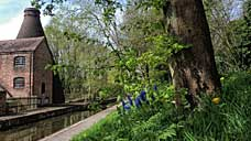 Springtime alongside the Shropshire Canal and the Coalport China Museum (OS Grid Ref. SJ695024 Nearest Post Code TF8 7HT)