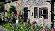 The Plague Cottages : Eyam - Derbyshire (OS Grid Ref. SK217764 - Nearest Post Code S32 5QG)