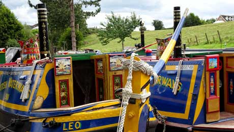 Historic canal boats, Audlem Mill : Shropshire Union Canal - Cheshire (OS Grid Ref. SJ656437 Nearest Post Code CW3 0ED)