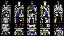 The Lewis Carroll Memorial Window in All Saints' Church : Daresbury - Cheshire (OS Grid Ref. SJ580828 Nearest Post Code WA4 4AE)