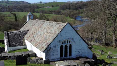 Llangar Church - Dee Valley, Denbighshire (OS Grid Ref.  SJ063424 Nearest Post Code  LL21 0HW)