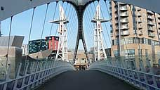 The Lowry Bridge - Salford Quays (OS Grid Ref. SJ804969 Nearest Post Code M17 1HH)