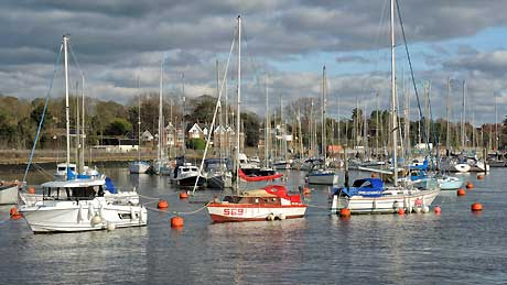 Lymington Marina, Hampshire (OS Grid Ref. SZ328955 Nearest Post Code SO41 3AT)