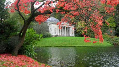 The Pantheon at Stourhead, Wiltshire (OS Grid Ref. ST770338 Nearest Post Code BA12 6QB)
