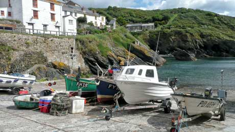 Portloe Harbour, Cornwall (OS Grid Ref. SW937393 Nearest Post Code TR2 5QY)