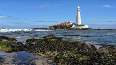 St. Mary's Lighthouse, Whitley Bay - Tyne and Wear (OS Grid Ref. NZ351752 Nearest Post Code NE26 4RS)