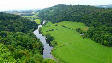 The River Wye, from Symonds Yat Rock - Herefordshire (OS Grid Ref. SO565160 Nearest Post Code GL16 7NZ)