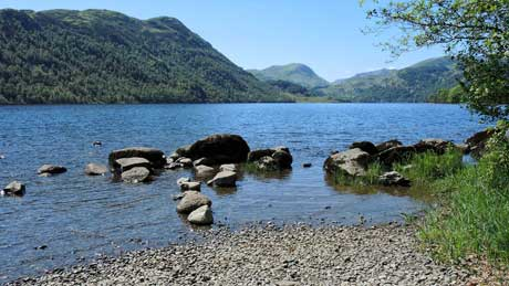 Ullswater, Cumbria (OS Grid Ref.  NY407201 Nearest Post Code CA11 0JS)