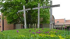 Calvary at the Anglican Shrine : Walsingham, Norfolk (OS Grid Ref. TF935369)