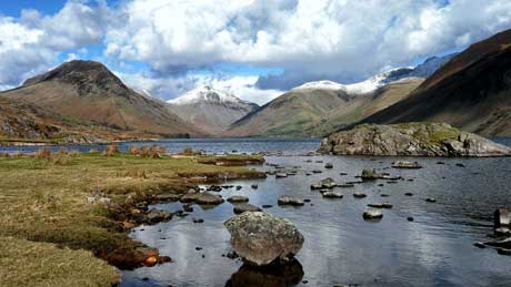 Wast Water - Cumbria (OS Grid Ref. NY151053 Nearest Post Code CA20 1EU)