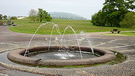 The National Botanic Garden of Wales -  the Great Glasshouse and fountain