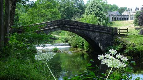St. Bertram's Bridge, Ilam Hall, Staffordshire (OS Grid Ref. SK132505 Nearest Post DE6 2AZ)