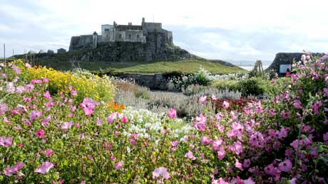 The Gertrude Jekyll Garden and Lindisfarne Castle