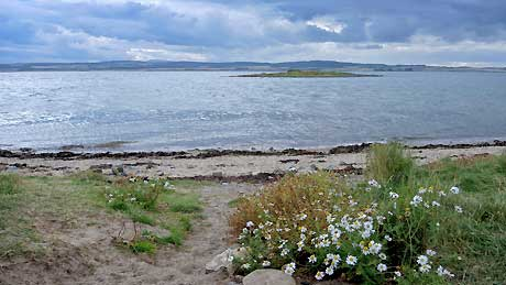 St. Cuthbert's Island viewed from Lindisfarne
