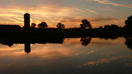 Sunset at Whatcroft Flash, Trent & Mersey Canal, Cheshire