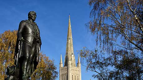 Duke of Wellington Statue at Norwich Cathedral