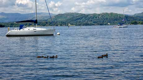 Windermere viewed from the Brockhole Visitor Centre, Cumbria